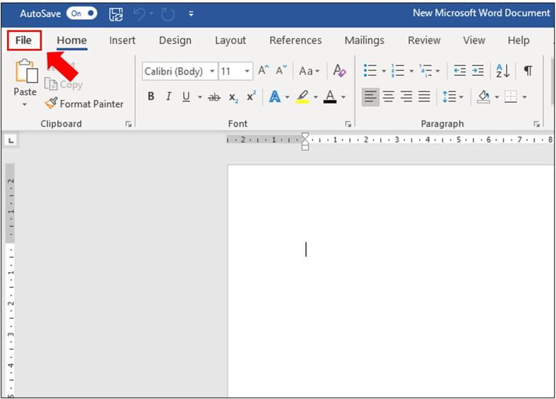 bước 1: Chọn Tab File  và Chọn Info.
