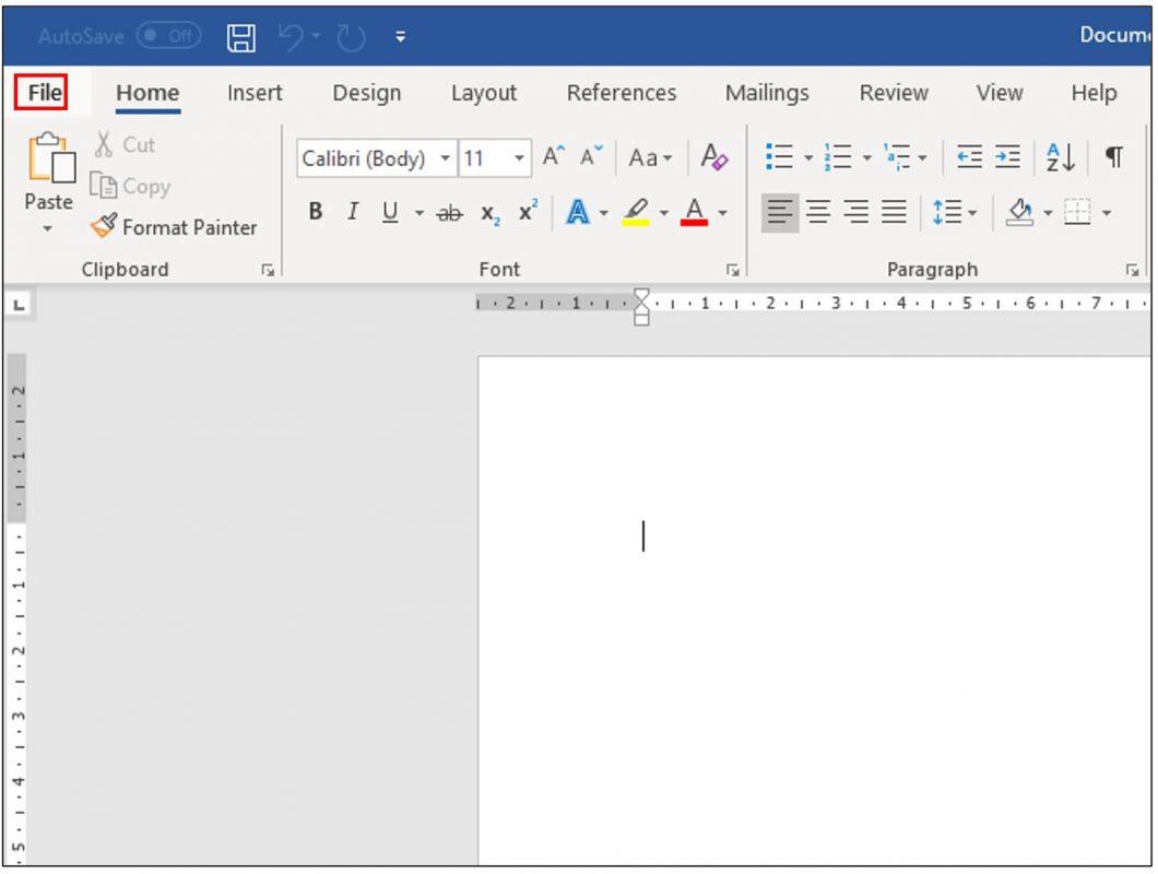 mở word và chọn file