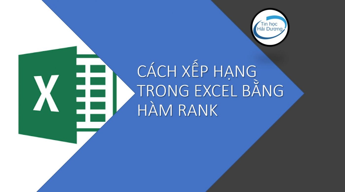 cách xếp hạng trong excel bằng hàm rank